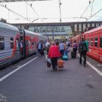 Der Bahnhof Paveletskiy in Moskau