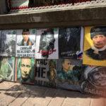Putin-Fanartikel auf dem Arbat in Moskau