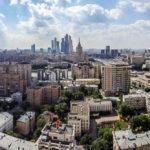 Panorama von Moskau, gesehen von der Kalina Bar