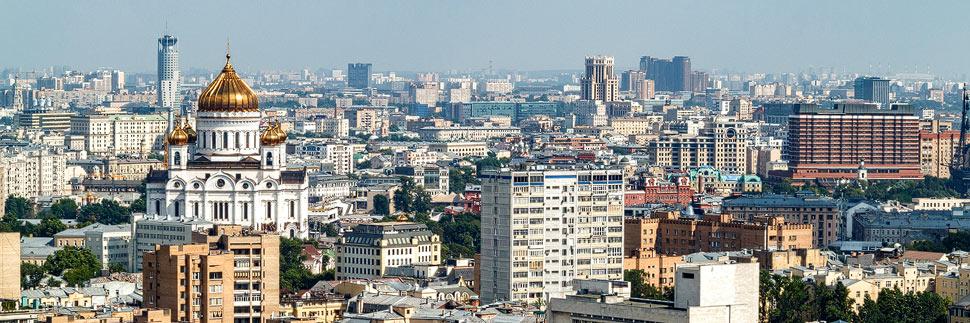 Blick über die Stadt Moskau