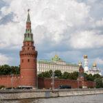 Der Kreml, gesehen während einer Bootsfahrt auf der Moskwa