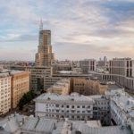 Aussicht vom Hotel Hilton Moscow Leningradskaya
