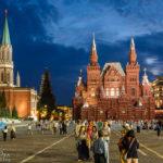 Das Staatliche Historische Museum und der Nikolausturm auf dem Roten Platz