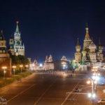 Der Rote Platz mit dem Kreml und der Basilius-Kathedrale