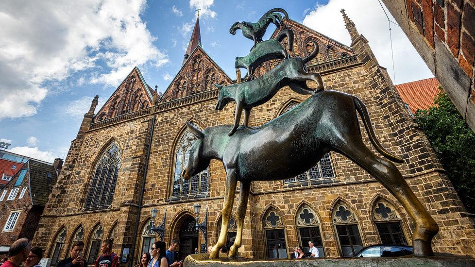 Die Skulptur der Bremer Stadtmusikanten