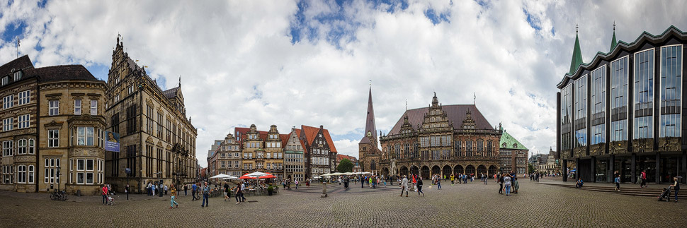 Panorama des Marktplatz in Bremen