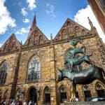 Die Bronzeskulptur der Bremer Stadtmusikanten