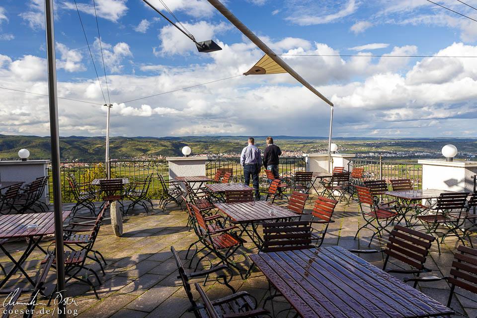 Aussichtsterrasse im Restaurant des Stift Göttweig mit Blick über die Wachau