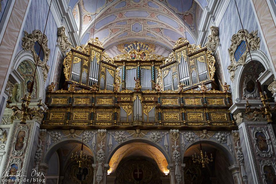 Die Orgel in der Stiftskirche im Stift Göttweig