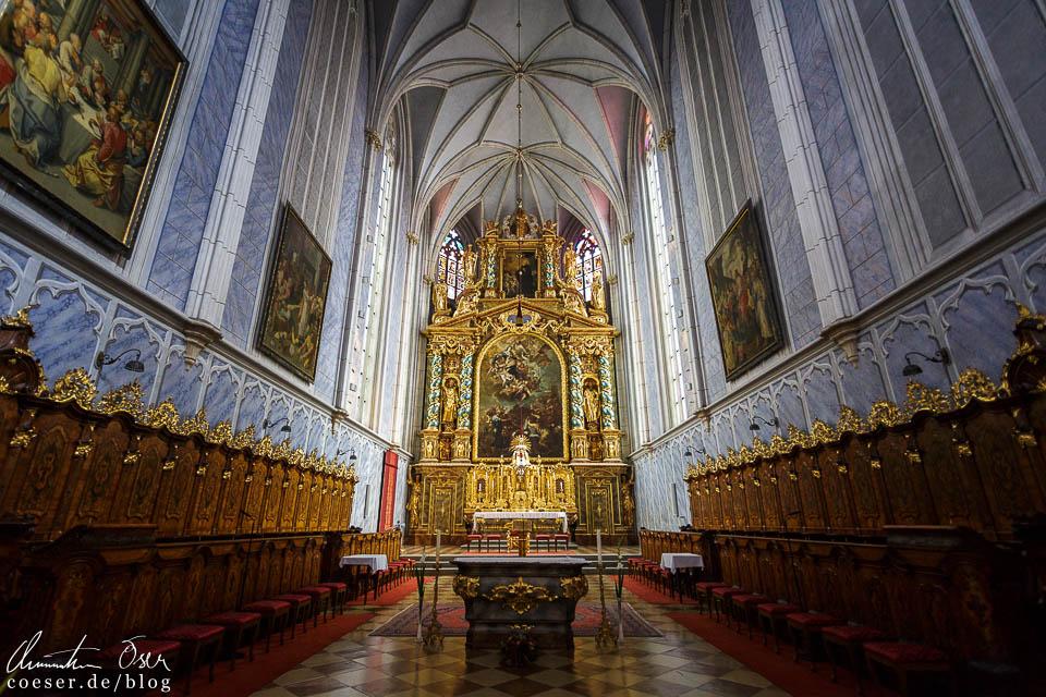 Chor und Hochaltar in der Stiftskirche im Stift Göttweig