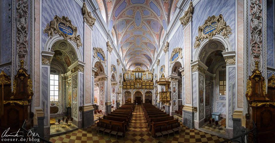 Panorama der Stiftskirche im Stift Göttweig