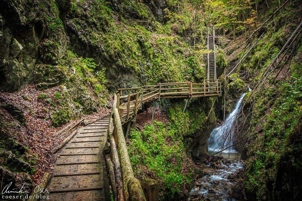 Wasserfall in der Dr.-Vogelgesang-Klamm