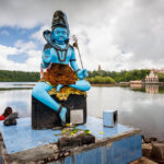 Statue von Lord Shiva beim Grand Bassin