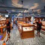 Verkaufsraum in der Fabrik Historic Marine auf Mauritius