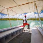Überfahrt auf die Insel Île aux cerfs auf Mauritius