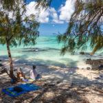 Mit etwas Glück findet man kleine, einsame Buchten auf der Insel Île aux cerfs auf Mauritius