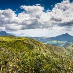 Blick auf die Landschaft von Mauritius