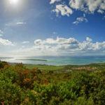 Panorama der Küste von Mauritius, gesehen von einem Aussichtpunkt nahe des Orts Chamarel