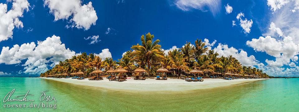 Strandpanorama auf Mauritius