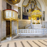 Das Altarbild von Leopold Forstner in der Kirche am Steinhof