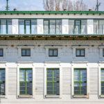 Detailansicht des Verwaltungsgebäudes der Nussdorfer Wehr- und Schleusenanlage