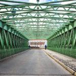 Die Schemerlbrücke auf der Nussdorfer Wehr- und Schleusenanlage