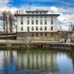 Das Verwaltungsgebäude der Nussdorfer Wehr- und Schleusenanlage