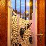Jugendstil-Glasfenster im Majolikahaus