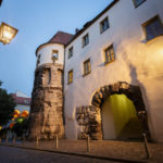 Das historische Stadttor Porta Praetoria in Regensburg