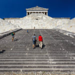 Zur Gedenkstätte Walhalla sind eine Menge Stufen zu überwinden