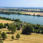 Blick von der Gedenkstätte Walhalla auf die Donaulandschaft