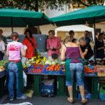 Der Wochenmarkt auf dem Alten Kornmarkt in Regensburg