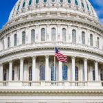 Detailansicht der Kuppel des Kapitols in Washington