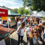 Besucher des FRESHFARM Dupont Circle Market in Washington