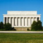 Die Rückseite des Lincoln Memorial