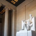 Statue von Abraham Lincoln, dem 16. Präsidenten der Vereinigten Staaten, im Lincoln Memorial