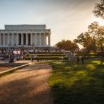 Das Lincoln Memorial in der Nachmittagssonne