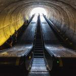Rolltreppen in der Metro-Station Dupont Circle in Washington