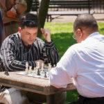 Schachspieler im Park Lafayette Square in Washington