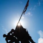 Silhouette des United States Marine Corps War Memorial in Washington