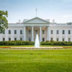 Nordseite des Weißen Hauses in Washington