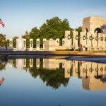 Spiegelung des World War II Memorial