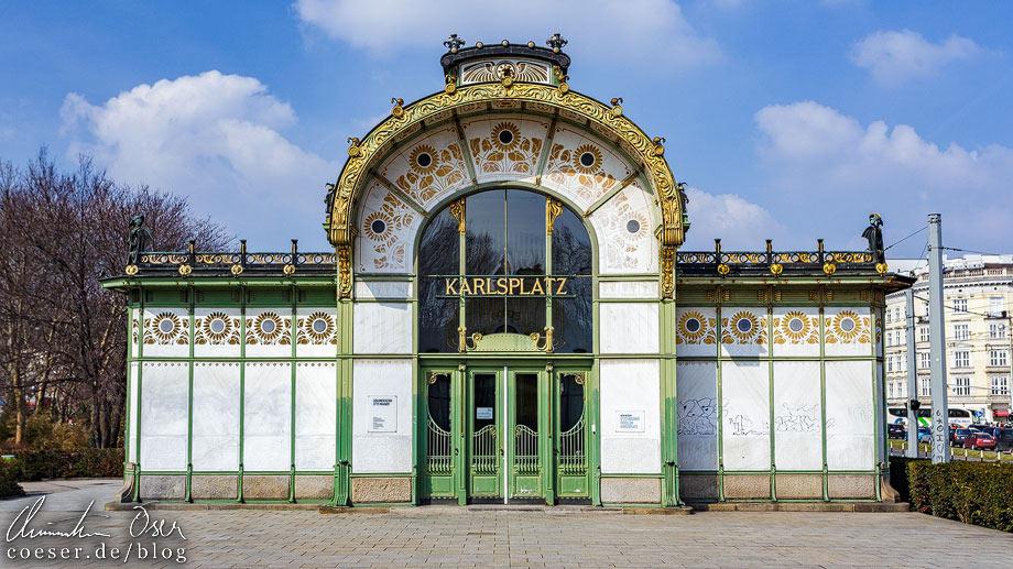 Otto-Wagner-Pavillon am Karlsplatz in Wien