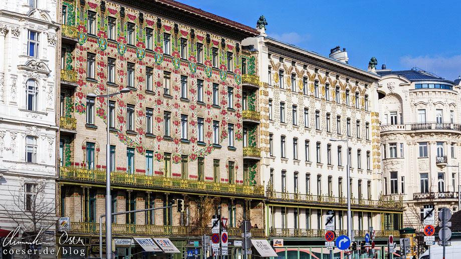 Wienzeilenhäuser / Majolikashaus von Otto Wagner