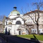 Außenansicht der Johanneskappelle am Währinger Gürtel von Otto Wagner