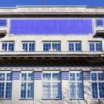 Detailansicht des Lupuspavillon von Otto Wagner im Wilhelminenspital