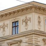 Detailansicht des Mietshauses Wiedner Hauptstraße 65 von Otto Wagner