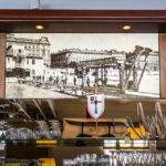 Historisches Bild im Schützenhaus von Otto Wagner zeigt den ehemaligen Zustand