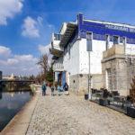 Das Schützenhaus von Otto Wagner am Donaukanal