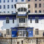 Frontalansicht des Schützenhauses von Otto Wagner